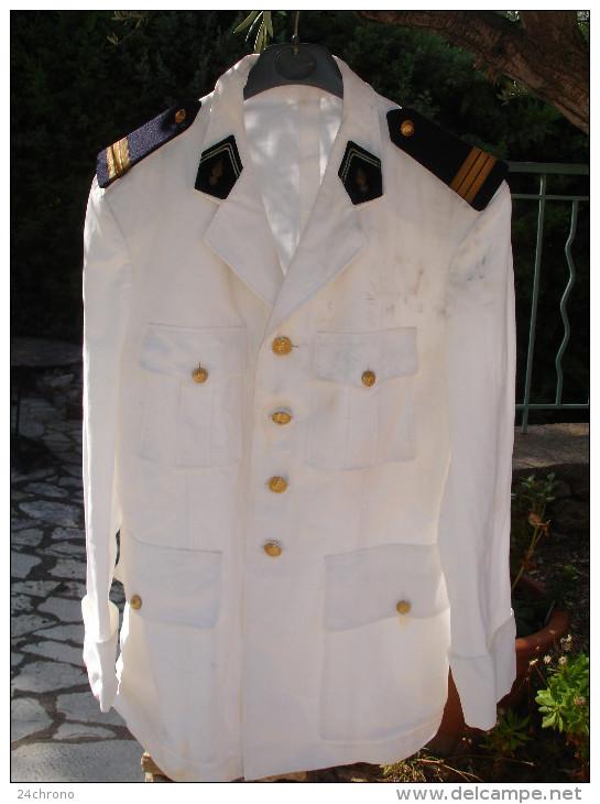 Ancienne Veste D´ Officier Des Transmissions, Fourreaux De Capitaine (14-3073) - Uniformes