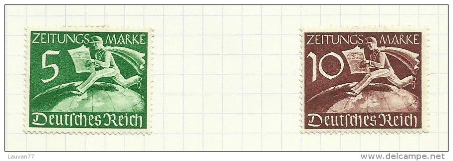 Allemagne Empire Timbres Pour Journaux N°1 Et 2 Côte 1.50 Euros - Usados