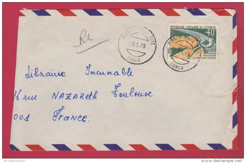Congo  //  Enveloppe     // De Pointe Noire   // Pour Toulouse  // 5/5/75 - Congo - Brazzaville