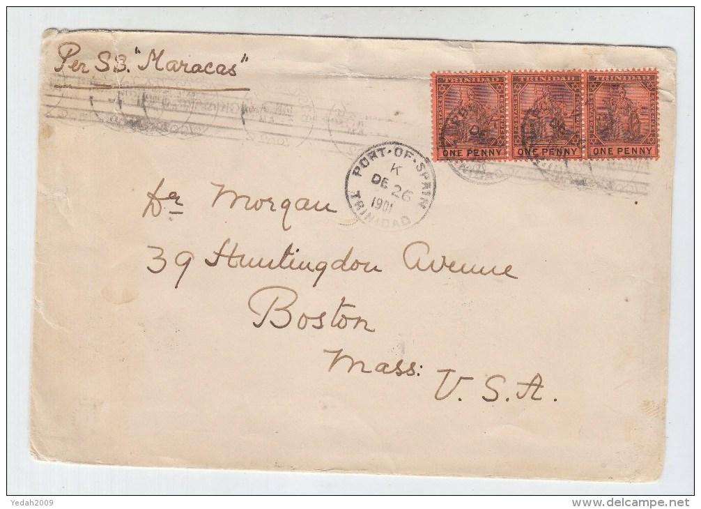 Trinidad/USA SHIP POST COVER 1901 - Trinidad & Tobago (1962-...)