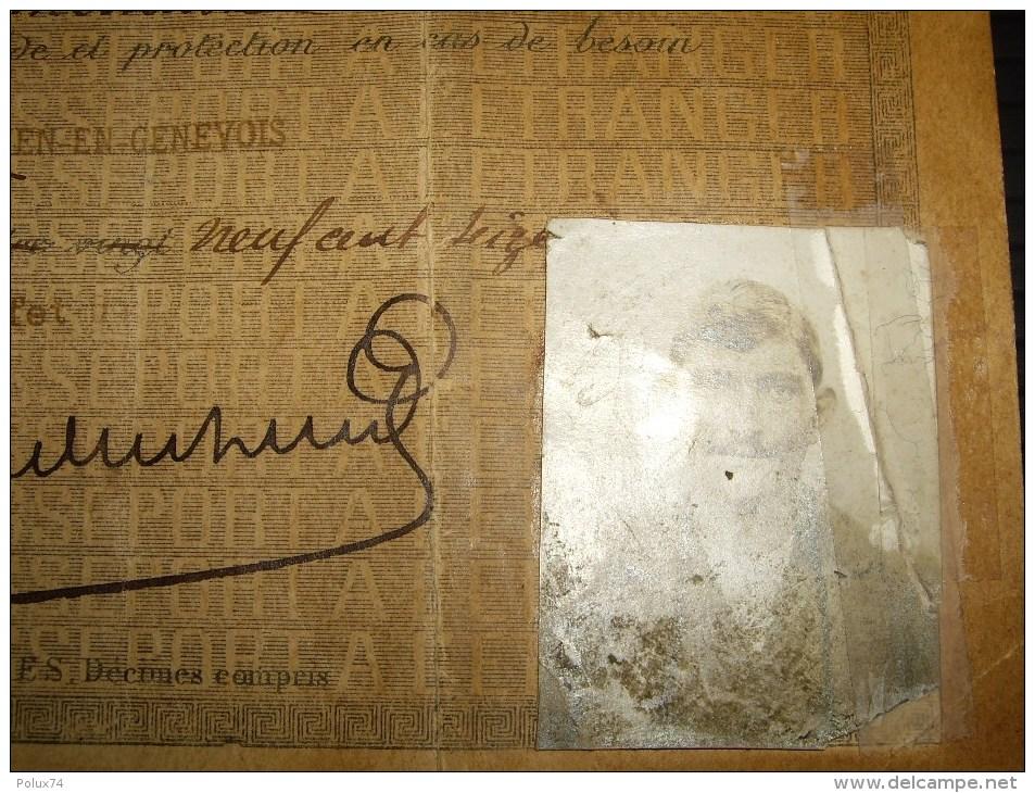 Passeport A L étranger  60 Cts 1916 Pour 30 Voyages-suisse Moellesulaz Geneve -abimé Dechirure - Fiscaux