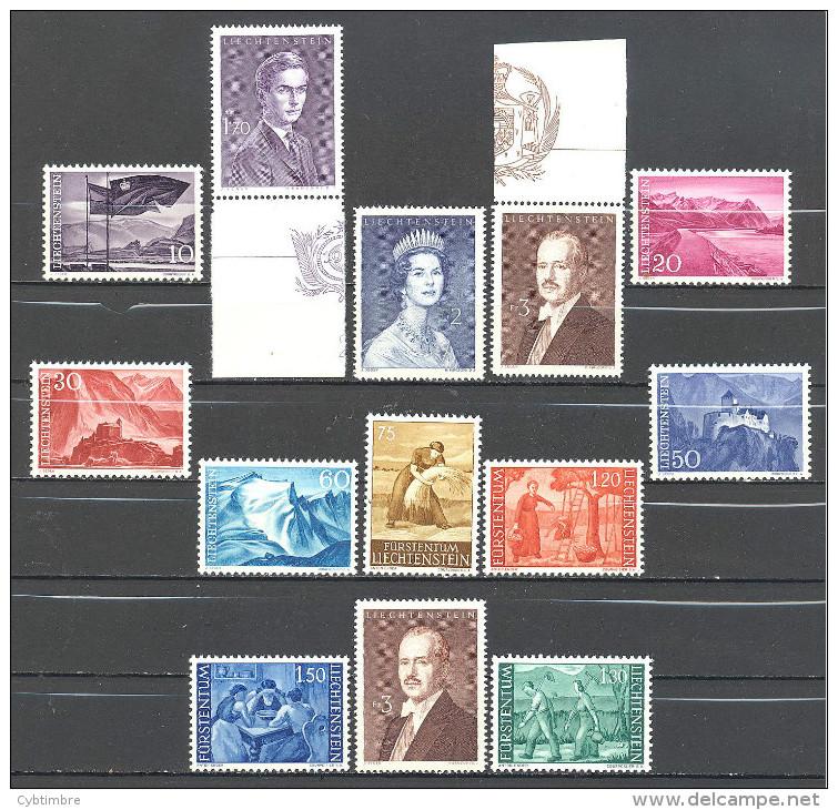 Liechtenstein: Yvert 13 Valeurs Entre N°342A/49C**; MNH; Cote 25.25€;  PETIT PRIX; Voir Le Scan! - Liechtenstein