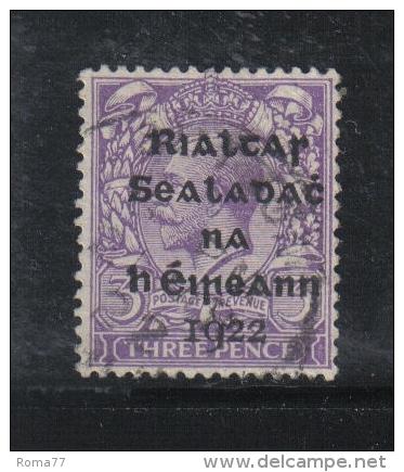 W 1873 - IRLANDA , Il 3 Penny Violetto  Usato - 1922 Governo Provvisorio