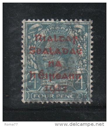 W 1883 - IRLANDA , Il  4 Penny  Azzurro  Usato - 1922 Governo Provvisorio