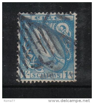 W1895 - IRLANDA , Il  1 Scellino Azzurro Verde N. 51 Usato - Usati
