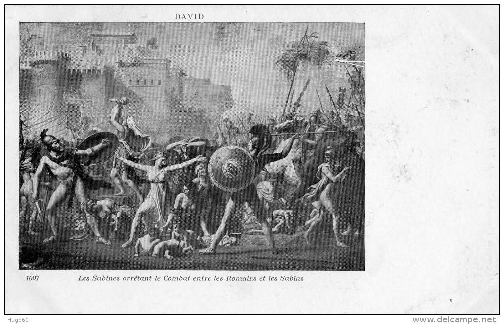 DAVID - Les Sabines Arrêtant Le Combat Entre Les Romains Et Les Sabins - Peintures & Tableaux
