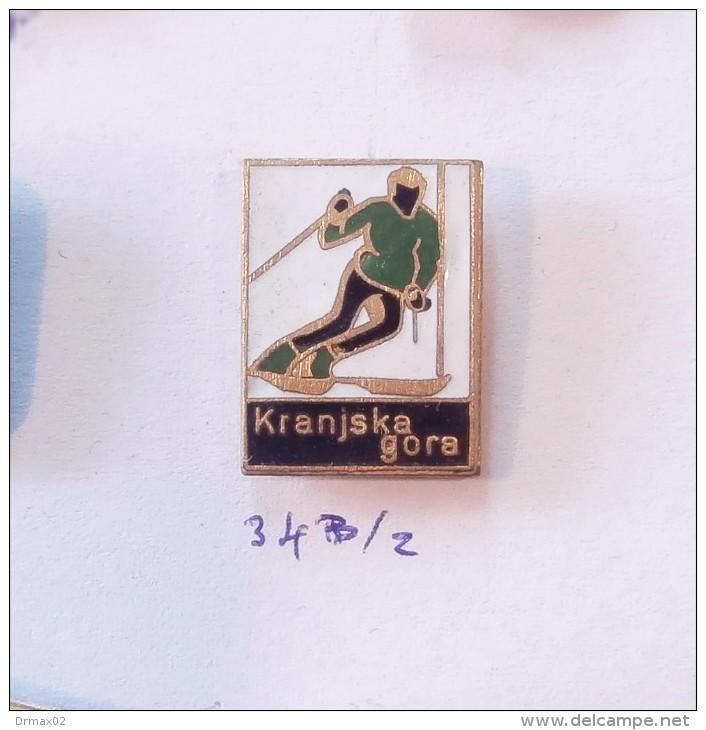 KRANJSKA GORA (Slovenia) Yugoslavia / Skiing Ski Jump Jumping Slalom / OLDER ENAMEL PIN - Wintersport
