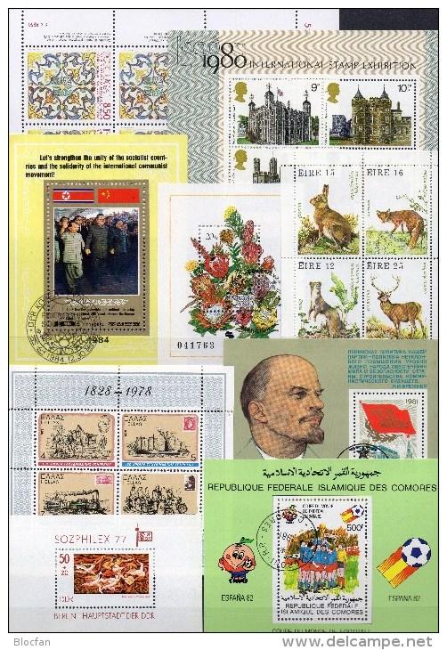 Blocks-Puzzle SA Aus 9 Gebieten Block/KB O 40€ Motive Natur Bloque Fauna Hojita Space Bloc Art Sheet M/s Sheet Bf Topics - Stamps