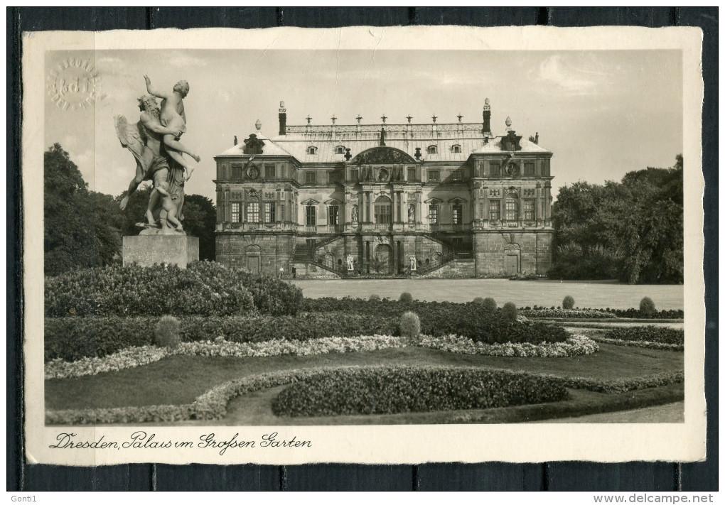 """CPSM S/w Photo AK German Empires,DR Dresden 1939  """"Palais Im Großen Garten """"1 AK Used,bef. - Dresden"""