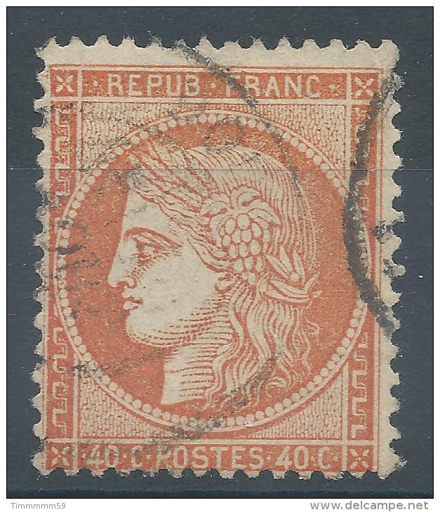 Lot N°26978    Variété/n°38, Oblit Grand Cachet à Date, Filet OUEST - 1870 Siege Of Paris