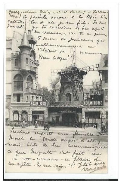 Paris (75) CPA Le Moulin Rouge (LL 216) - Francia
