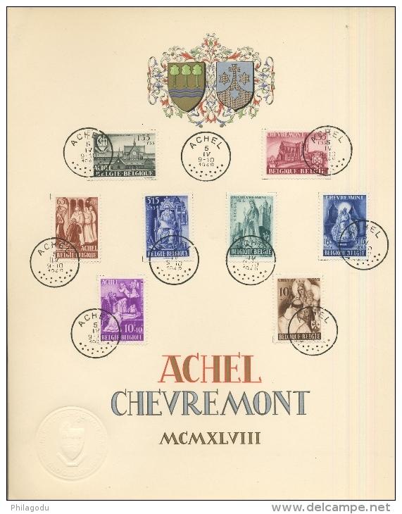 5 Paires De Souvenirs  Abbayes D´ACHEL Et CHEVREMONT   Avril 1948  Cote 380 Euros - Briefe U. Dokumente