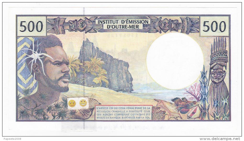 Polynésie Française / Tahiti - 500 FCFP - A.007 / Signatures Pouilleute / Ferman / Audren - Neuf / UNC - Papeete (Polynésie Française 1914-1985)