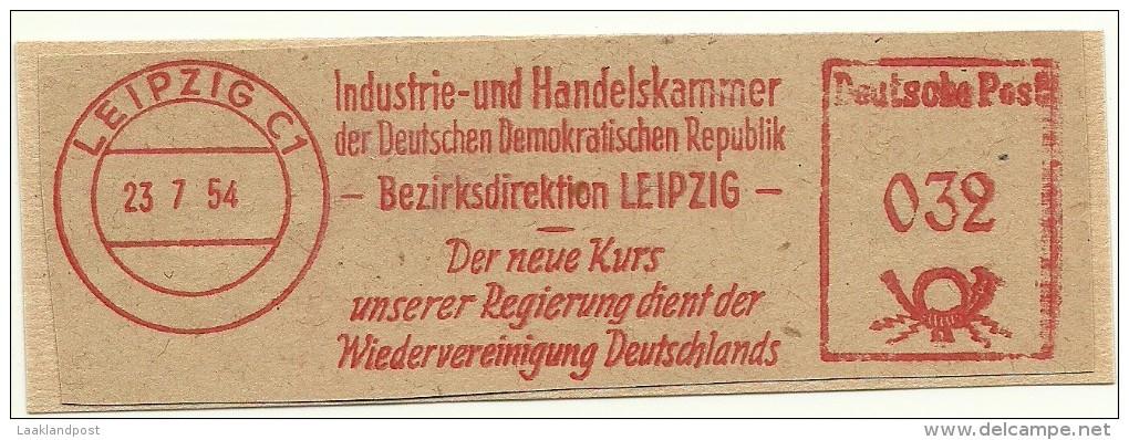 Nice Cut Meter Industrie- Und Handelskammer Der DDR, Leipzig 23-7-1954 Der Neue Kurs  Regierung Dient Der Wiedervereinig - Fabriken Und Industrien