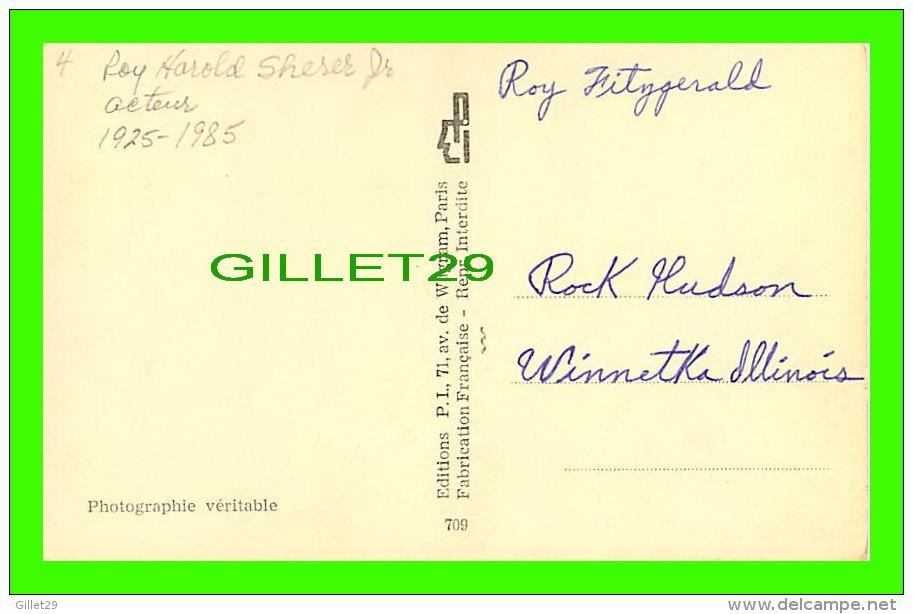ACTEURS - ROCK HUDSON (1925-1985) - NÉ, ROY HAROLD SHERER JR - PHOTO, H.P.S. - EDITIONS P.I. - - Acteurs
