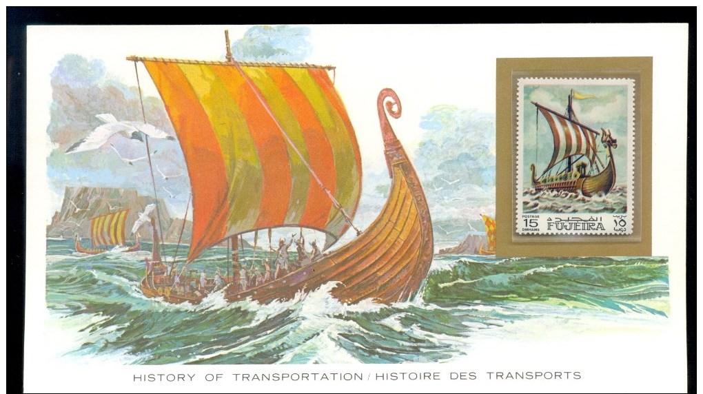 FUJEIRA HISTORY OF TRANSPORTATION * VIKING LONGBOAT BOAT * MNH - Fujeira