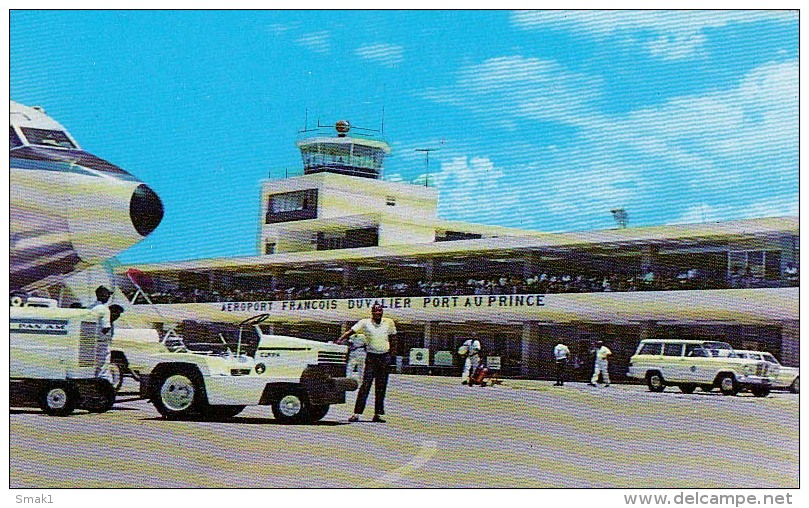 AK AERODROME AIRPORT AEROPORT FRANCOIS DUVALIER PORT -AU-PRINCE HAITE ALTE POSTKARTE - Aerodrome