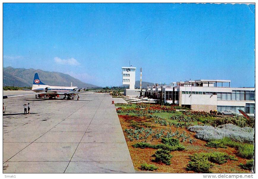 """AK AERODROME AIRPORT  FLUGHAFEN DUBROVNIK """" CILIPI """" KROATIEN  ALTE POSTKARTEN 1970 - Aerodrome"""
