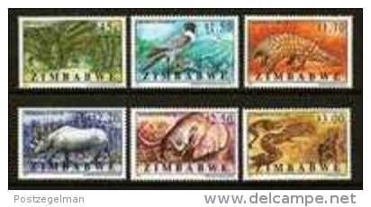 ZIMBABWE, 1997, Mint Never Hinged Stamp(s) Endangered Species, MI Nr(s). 593-598, #5174 - Zimbabwe (1980-...)