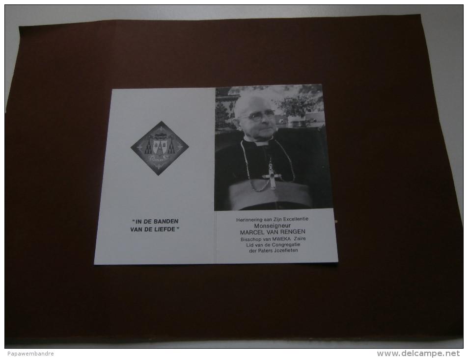 Doodsprentje Bisschop Marcel Van Rengen (Mol 1914 - Kinshasa 1988) Mweka, Kongo - Religión & Esoterismo