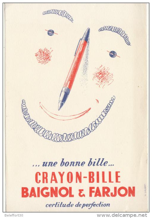 Crayon Bille Bagnol & Farjon - Buvards, Protège-cahiers Illustrés