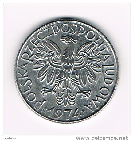 ¨ POLEN  5  ZLOTYCH  1974 - Pologne