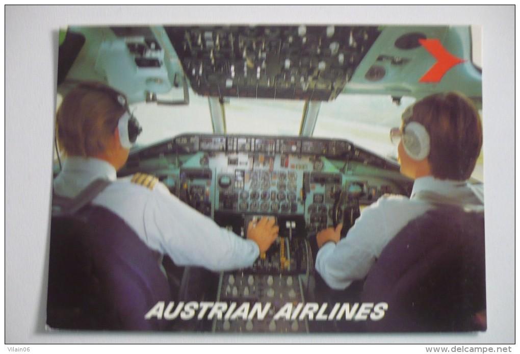 POSTE DE PILOTAGE   MD 81  AIRLINE ISSUE  AUSTRIAN AIRLINES - 1946-....: Era Moderna