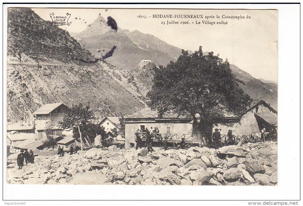 Carte  De  MODANE  FOURNEAUX  Après La Catastrophe 1906  ( Réf. Perso. 130 ) - Modane
