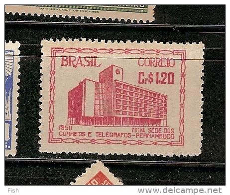 Brazil ** & Nova Sede Dos Correios E Telegrafos, Pernambuco 1950 (491) - Post