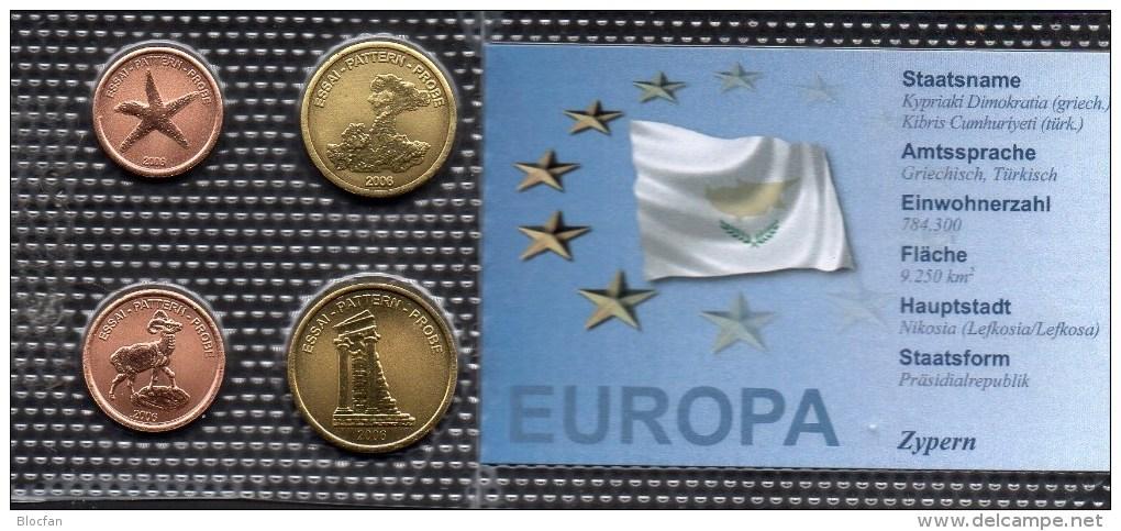 Muster EURO Cyprus 2006 Stg 20€ Stempelglanz Der Staatlichen Münze Zypern Set 1-20C Probe Coins Republik Of South-Kibris - Chypre