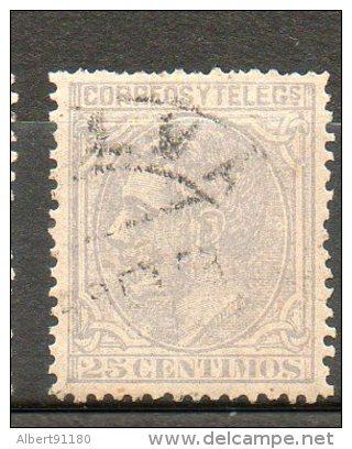ESPAGNE Alphonse XII  25c Bleu Gris 1879 N°187 - 1875-1882 Königreich: Alphonse XII.