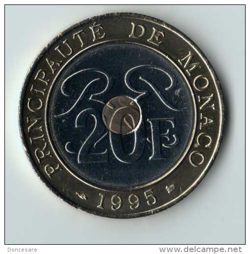 ** 20 FRANCS MONACO 1995 ** - 1960-2001 Nouveaux Francs