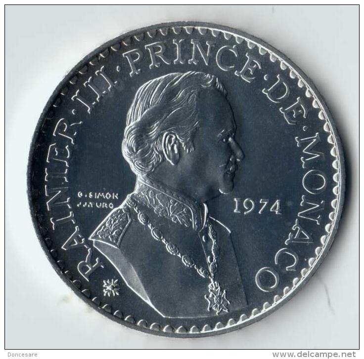 ** 50 FRANCS ARGENT MONACO 1974 FDC ** - Monaco