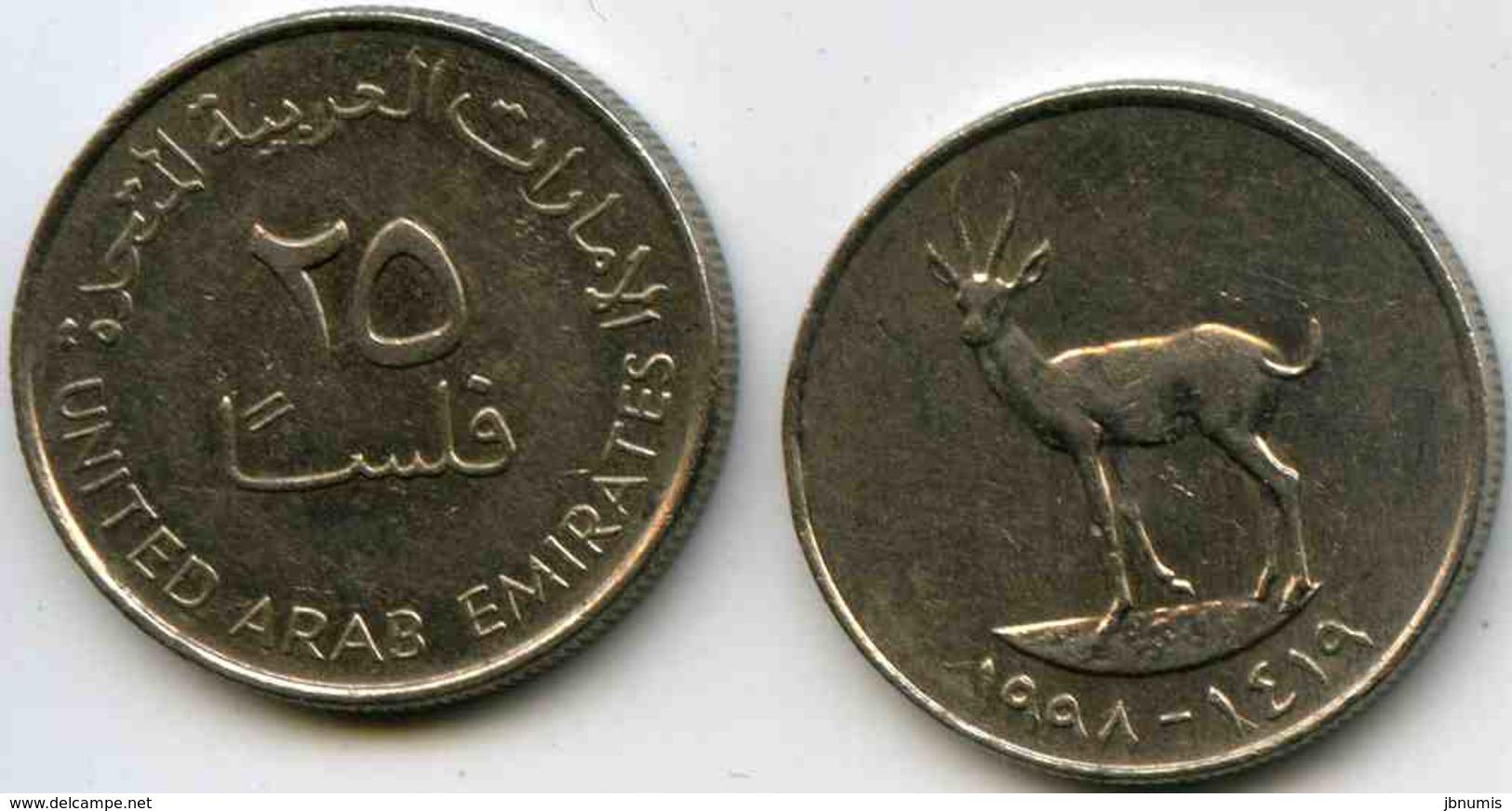 Emirats Arabes Unis United Arab Emirates 25 Fils 1419 - 1998 KM 4 - Emirats Arabes Unis