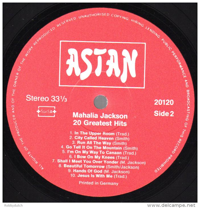 * LP *  MAHALIA JACKSON - 20 GREATEST HITS (England 1984 EX!!!) - Religion & Gospel