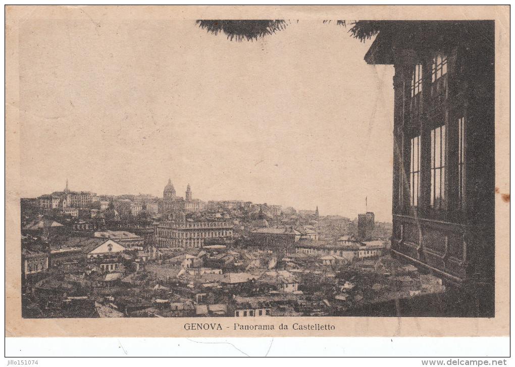 GENOVA Panorama Da Castelletto - Genova
