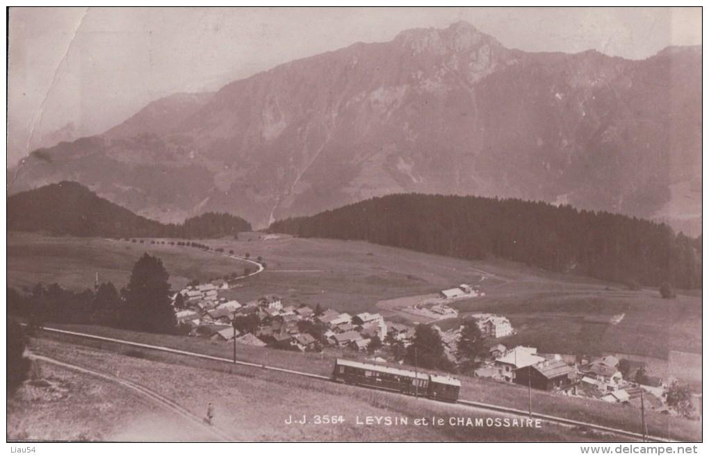 LEYSIN Et Le CHAMOSSAIRE (Train) - VD Vaud