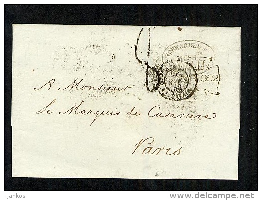 GB 1852 LetterWrapper To Paris (B429) - Great Britain