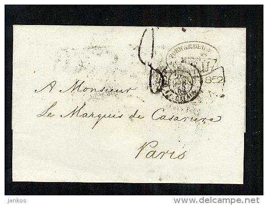 GB 1852 LetterWrapper To Paris (B429) - ...-1840 Prephilately