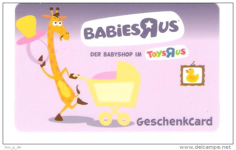 Germany - Allemagne - Toys R Us - Carte Cadeau - Carta Regalo - Gift Card - Geschenkkarte - Gift Cards