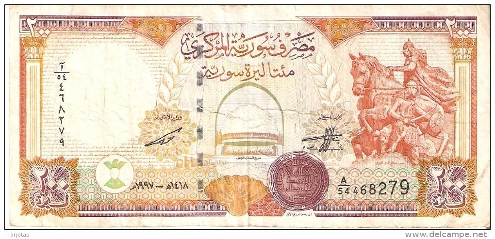 BILLETE DE SIRIA DE 200 POUNDS DEL AÑO 1997 (BANKNOTE) - Siria