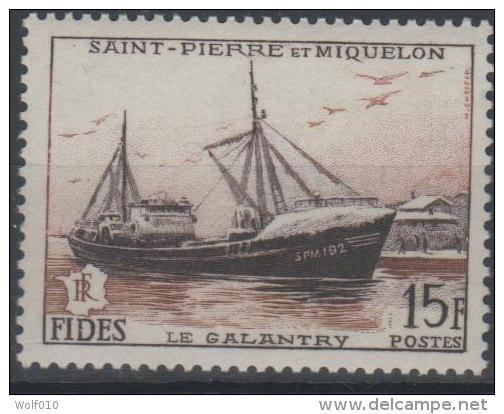 Saint Pierre & Miquelon. Fish Freezer. 1956. MNH St6amp. SCV = 6.50 - St.Pierre & Miquelon