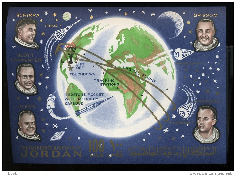 1963 Cosmos  Bloc 8 **  Cote 37,50 Euros  Astronautes - Jordanie