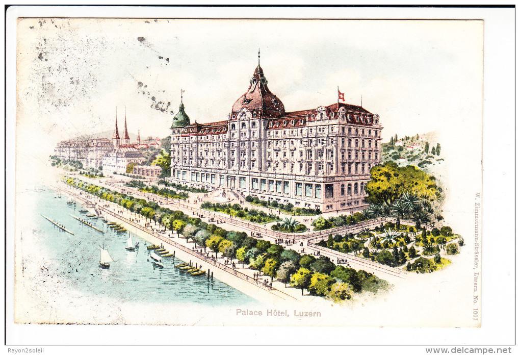 Palace Hôtel Luzern ( Litho )    ( Réf. Perso. 351 ) - LU Lucerne