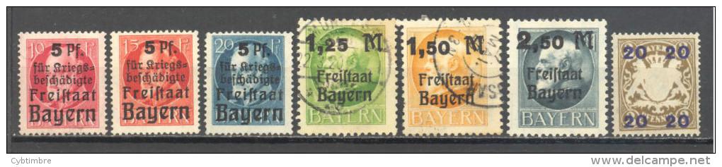 Allemagne Baviere: Yvert N° 171/6 + 195;  Cote 5.10; Voir Scan - Bayern