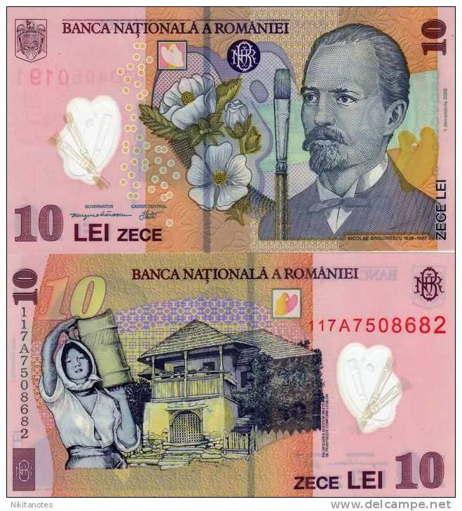ROMANIA 10 LEI 2011 P119 POLYMER UNCIRCULATED - Rumania