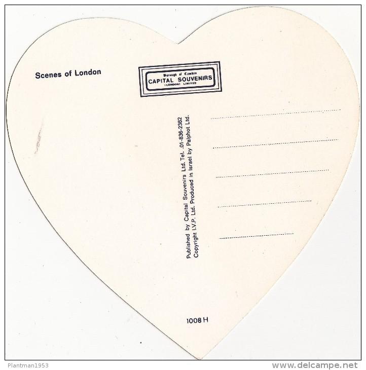Heart Shape Post Card,Love From London,L16. - London