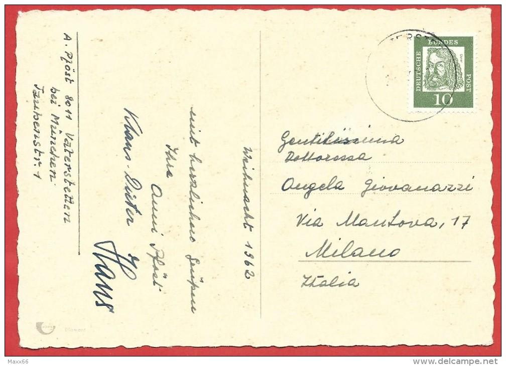 CARTOLINA VIAGGIATA GERMANIA - BUON NATALE - Frohe Weihnachten - ANNULLO  1962 - Altri