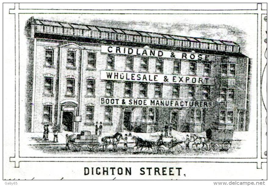 ANGLETERRE.BRISTOL. BOOT & CHOE MANUFACTURERS.CRIDLAND & ROSE.DIGHTON STREET . - Royaume-Uni