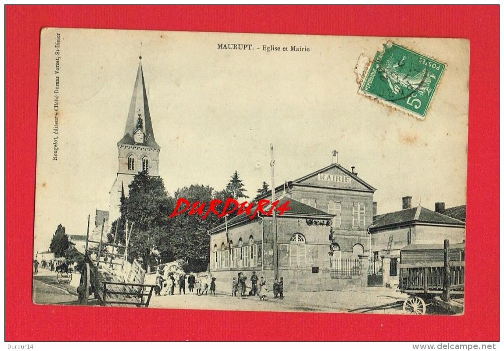 Marne - MAURUPT  - Église Et Mairie - France
